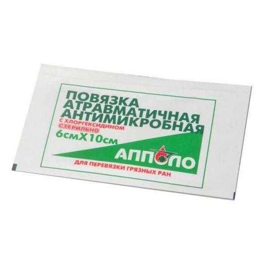 Апполо повязка гемостатическая на рану с аминокапроновой кислотой 6х10 1 шт., фото №1