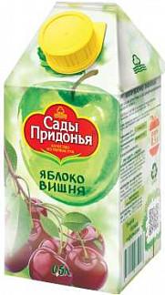 Сады придонья сок яблоко/вишня 500мл
