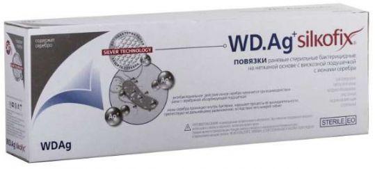 Силкофикс wd ag повязка стерильная на нетканой основе с сорбционной подушечкой 8,25х30см 1 шт. фармапласт, фото №1