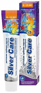 Сильвер кэа эко зубная паста для детей 6-12 лет без фтора 50мл