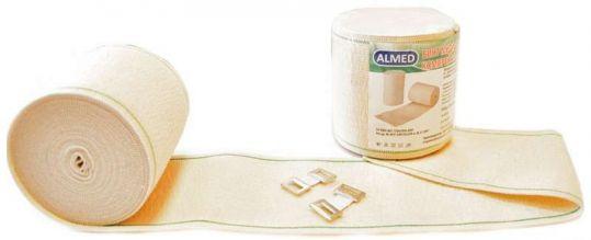 Альмед бинт эластичный медицинский компрессионный ср 80ммх1,5м с застежкой, фото №1