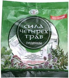 Сила четырех трав леденцы без сахара 30г