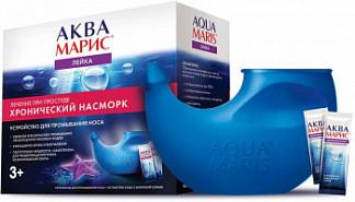 Аква марис устройство для промывания носа + морская соль саше 30 шт. ядран