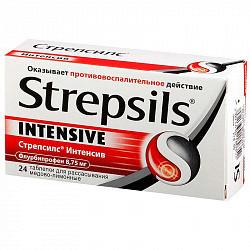 Стрепсилс интенсив 24 шт. таблетки для рассасывания мед-лимон