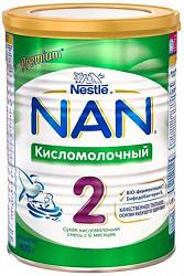 Нестле нан кисломолочный 2 смесь молочная 400г