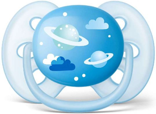 Авент пустышка силиконовая для мальчиков 6-18 месяцев (scf528/12) 1 шт., фото №1