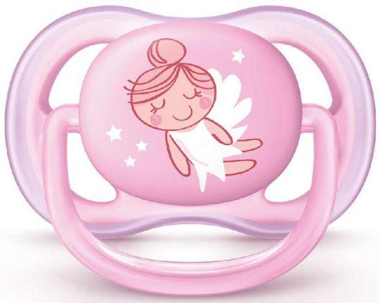 Авент ультра эйр пустышка силиконовая для девочек 0-6 месяцев (scf545/10) 1 шт., фото №1