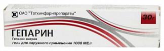 Гепарин 1000ме/г 50г гель для наружного применения