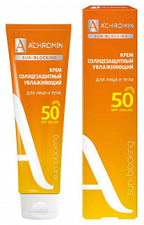Ахромин сан-блокинг крем для лица/тела солнцезащитный экстра-защита spf50 100мл