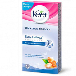 Вит полоски восковые для депиляции для чувствительной кожи easy gelwax 20 шт.