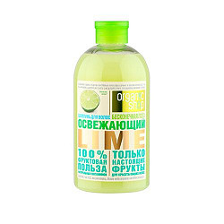 Органик шоп фрукты шампунь для волос очищающий освежающий лайм 500мл органик шоп
