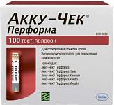 Тест-полоски акку-чек перформа №100
