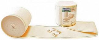 Альмед бинт эластичный медицинский компрессионный ср 80ммх3,5м с застежкой