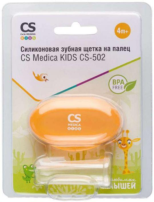 Сиэс медика кидс зубная щетка силиконовая на палец cs-502, фото №1