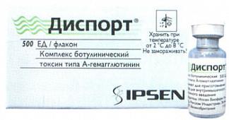 Диспорт 500ед 1 шт. лиофилизат для приготовления раствора для инъекций