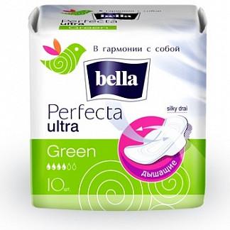 Белла перфекта ультра прокладки грин 10 шт.