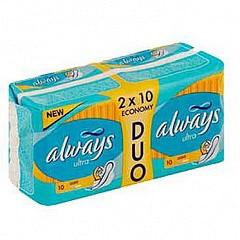 Олвейз прокладки ультра лайт 20 шт.