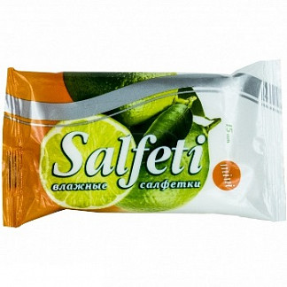 Салфети салфетки влажные мини (арбуз/лайм/апельсин/клубника) 15 шт.
