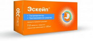 Эскейп 120мг 112 шт. таблетки покрытые пленочной оболочкой