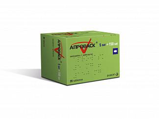 Апроваск 5мг+150мг 28 шт. таблетки покрытые пленочной оболочкой