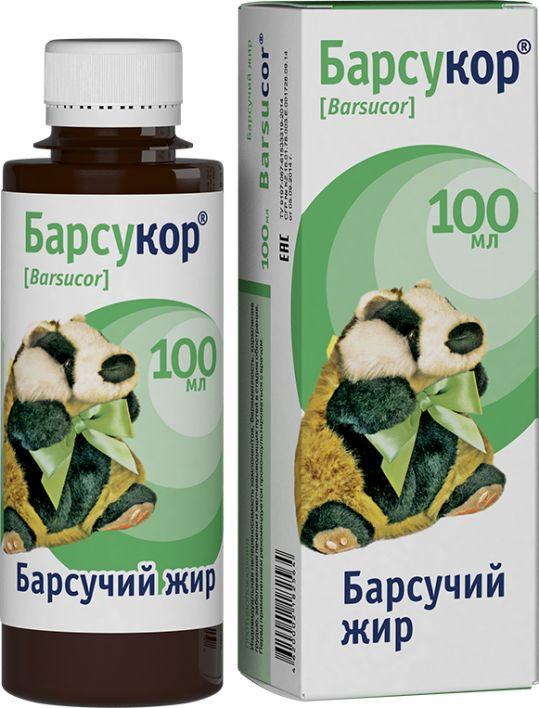 Барсукор барсучий жир 100мл, фото №1