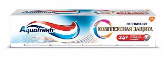 Аквафреш комплексная защита зубная паста отбеливание 100мл