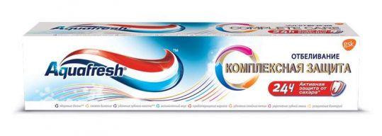 Аквафреш комплексная защита зубная паста отбеливание 100мл, фото №1