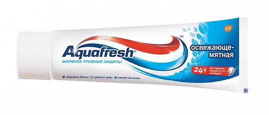 Аквафреш 3+ зубная паста освежающе-мятная 50мл, фото №2