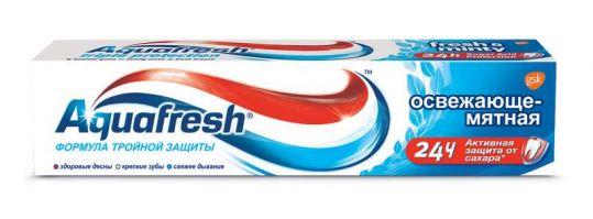 Аквафреш 3+ зубная паста освежающе-мятная 100мл, фото №1