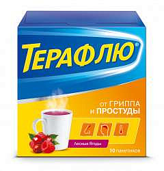Терафлю лесные ягоды 10 шт. порошок
