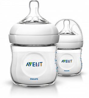 Авент натурель бутылочка для кормления с соской для новорожденных 86485 (scf690/27) / (scf030/27) 125мл 2 шт.