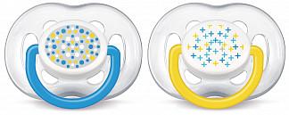 Авент пустышка силиконовая для мальчиков фри флоу 6-18 месяцев (scf180/27) 2 шт.