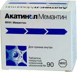 Акатинол мемантин 10мг 90 шт. таблетки покрытые пленочной оболочкой