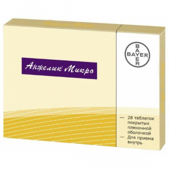 Анжелик микро 28 шт. таблетки покрытые пленочной оболочкой, фото №1