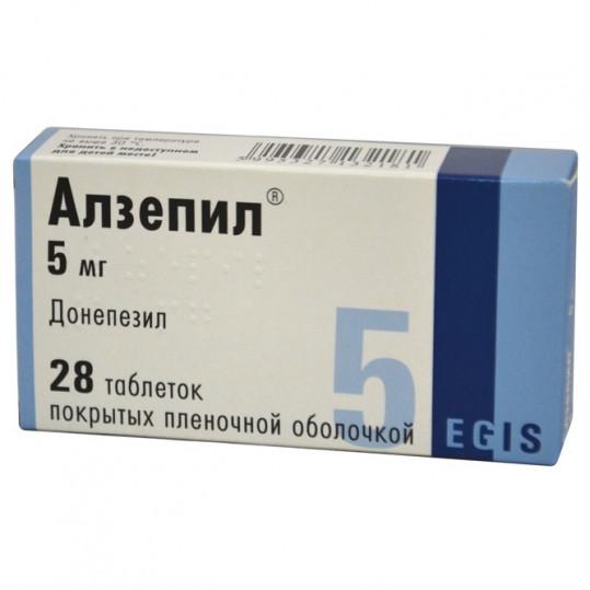 Алзепил 5мг 28 шт. таблетки покрытые пленочной оболочкой, фото №1
