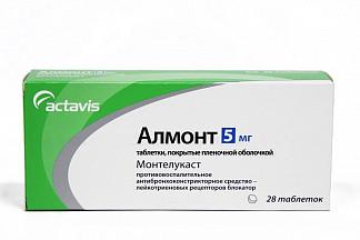 Алмонт 5мг 28 шт. таблетки покрытые оболочкой