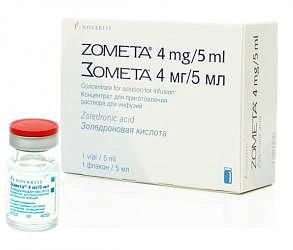 Зомета 4мг 5мл концентрат для приготовления раствора для инфузий