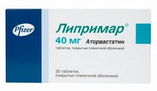 Липримар 40мг 30 шт. таблетки покрытые пленочной оболочкой pfizer ireland pharmaceuticals