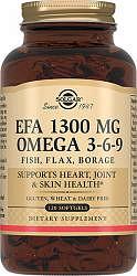 Солгар комплекс жирных кислот омега 3-6-9 капсулы 1300мг 120 шт.
