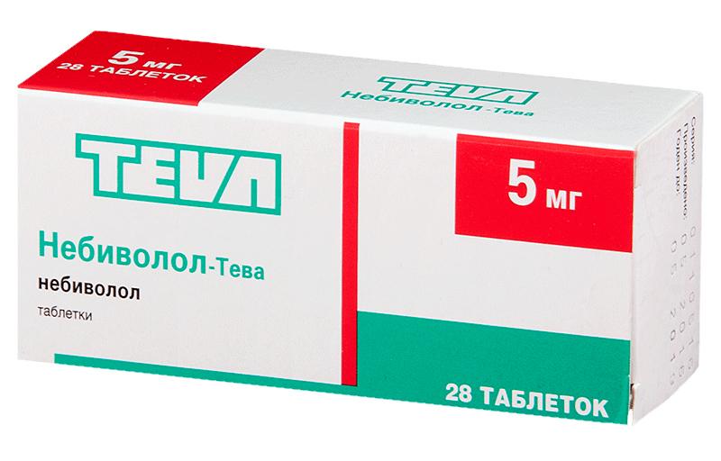 НЕБИВОЛОЛ-ТЕВА таблетки 5 мг 28 шт.
