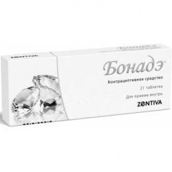БОНАДЭ таблетки 2 мг+0,03 мг 21 шт.