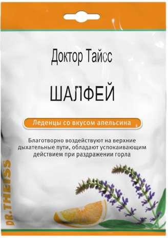 Тайсс леденцы шалфей, апельсин 50г, фото №1