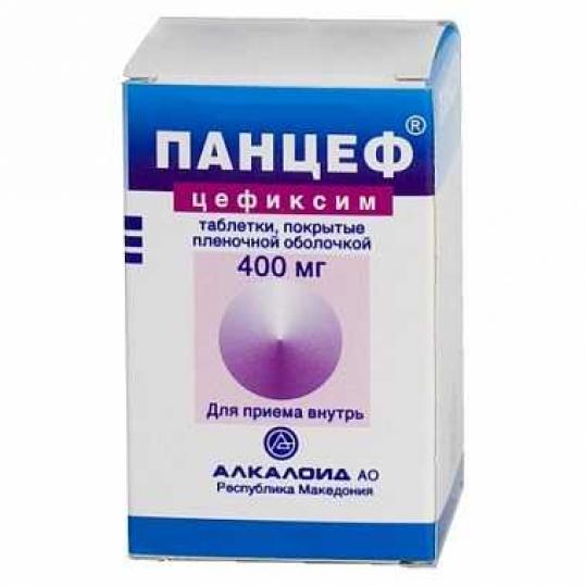 Панцеф 400мг 10 шт. таблетки покрытые пленочной оболочкой, фото №1
