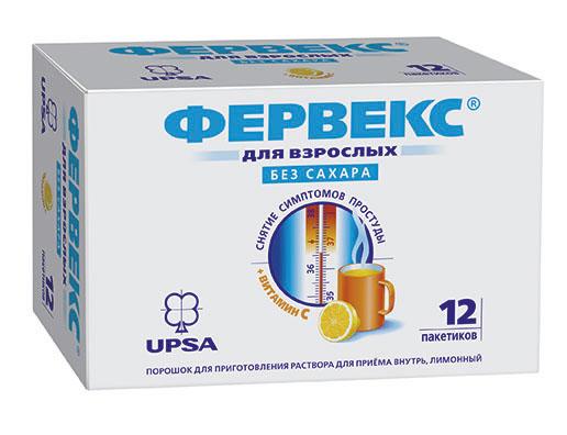 Фервекс 12 шт. порошок для приготовления раствора для приема внутрь лимон без сахара, фото №1