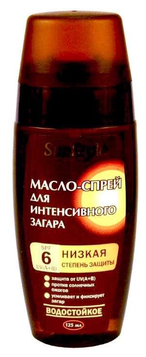 Санстайл (sun style) масло-спрей для интенсивного загара spf6 водостойкое 125мл, фото №1