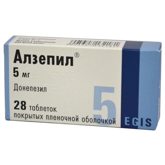 АЛЗЕПИЛ таблетки 5 мг 28 шт.