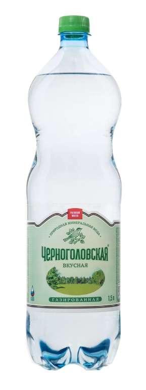 Черноголовская вода питьевая газированная 0,5л, фото №1