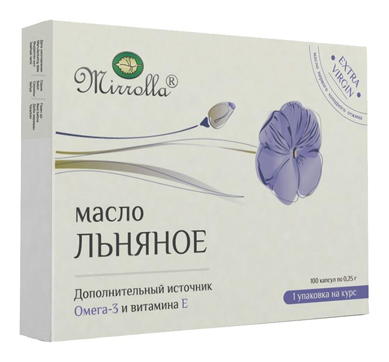 МИРРОЛЛА масло Льняное капсулы 100 шт.