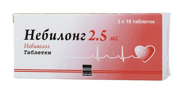 НЕБИЛОНГ таблетки 2.5 мг 30 шт.