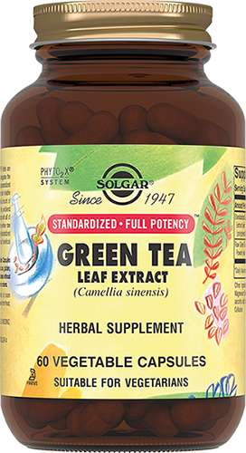 Солгар экстракт листьев зеленого чая капсулы 60 шт., фото №1